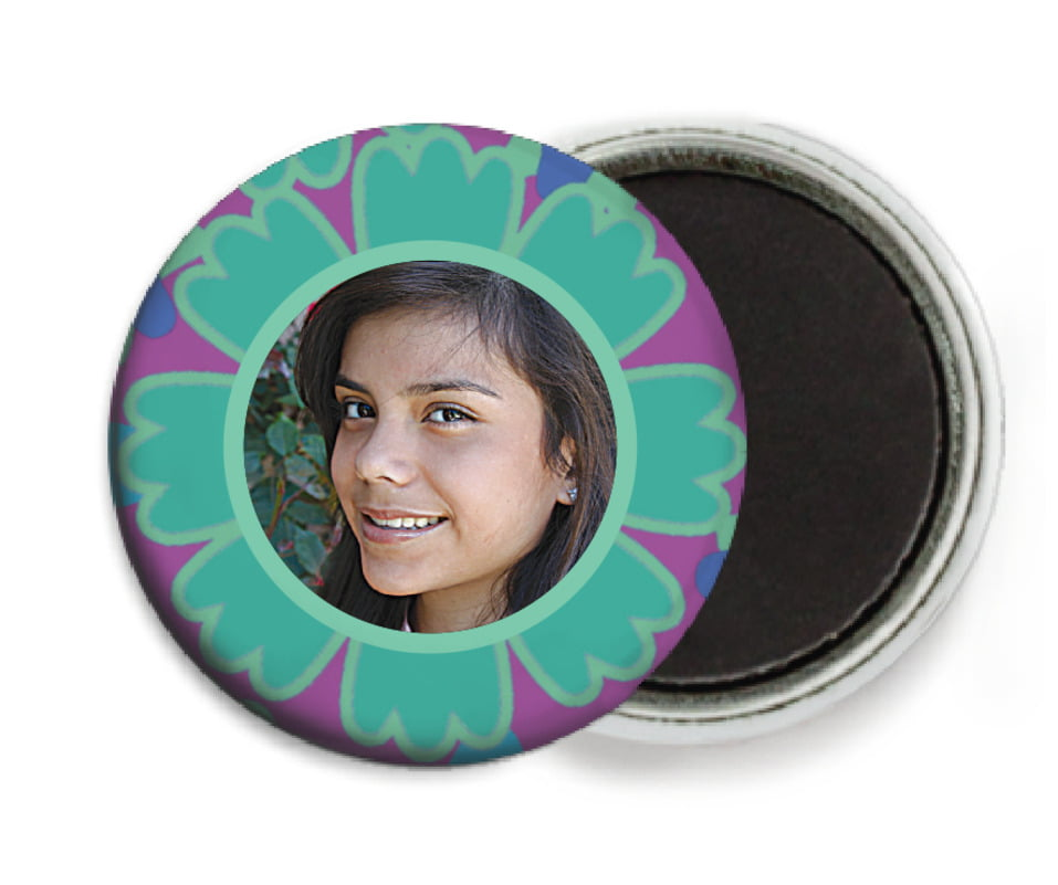 custom button magnets - aruba - posies (set of 6)