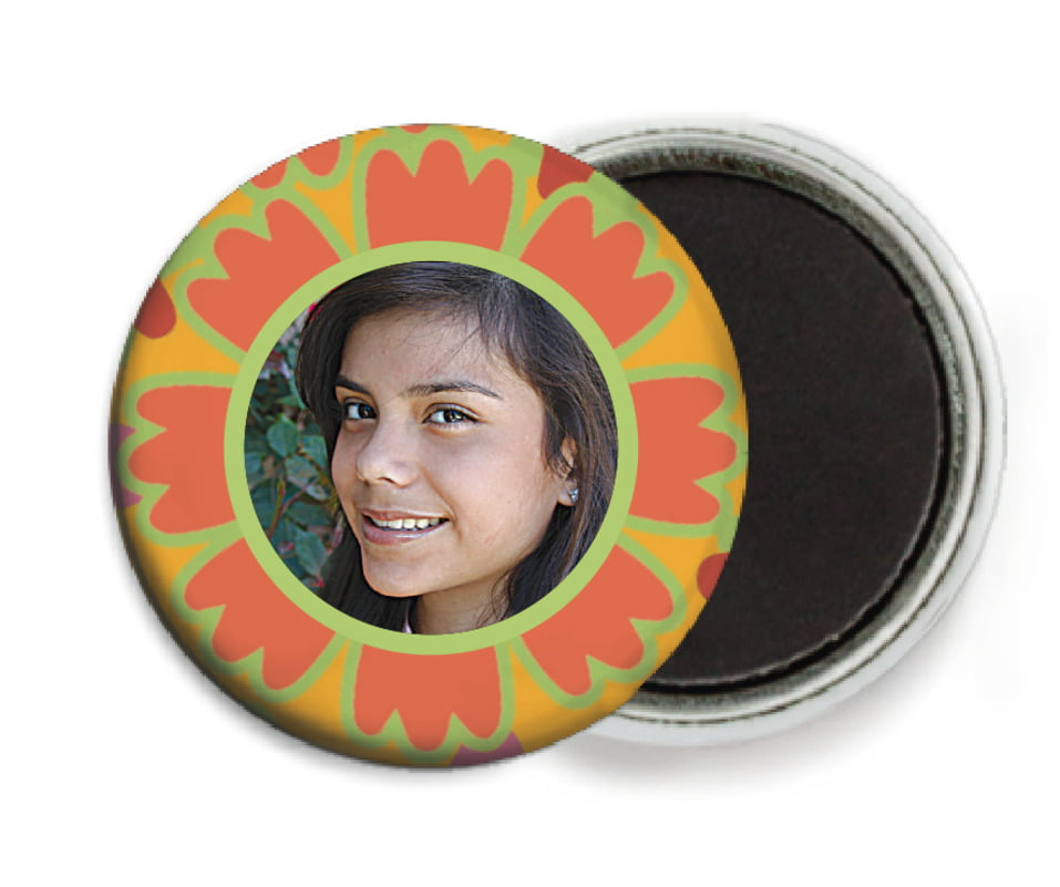 custom button magnets - spice - posies (set of 6)