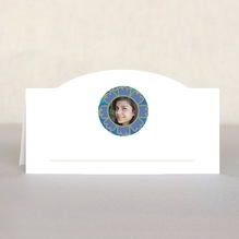 Posies Place Card In Deep Blue