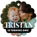 Picture Perfect Scallop Hang Tag In Tuxedo