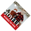 Picture Perfect Small Diamond Hang Tag In Deep Red