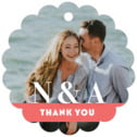 Picture Perfect scallop hang tags