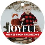 Picture Perfect Circle Hang Tag In Deep Red