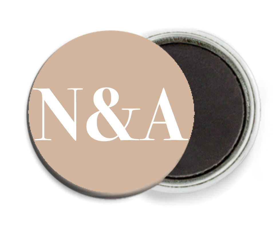 custom button magnets - mocha - picture perfect (set of 6)