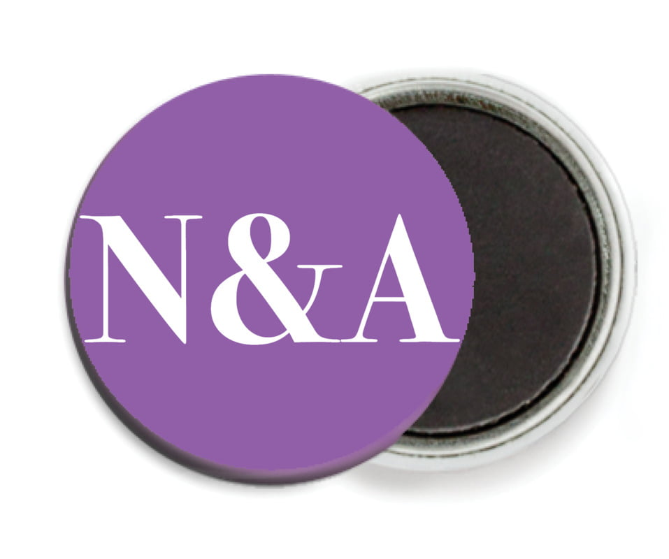 custom button magnets - purple - picture perfect (set of 6)