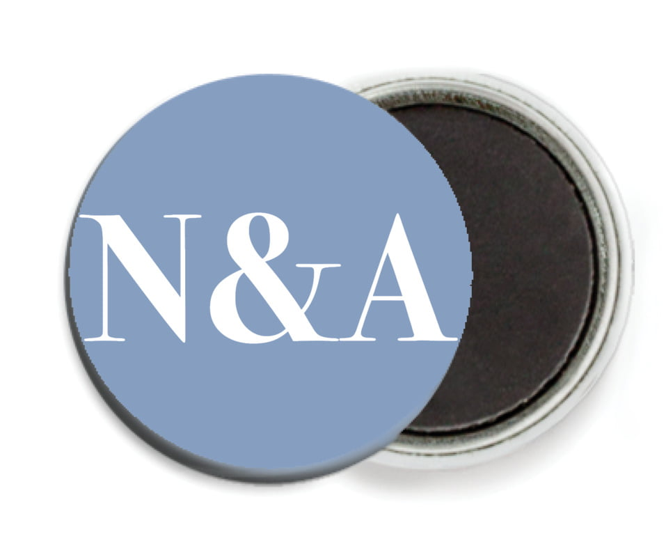 custom button magnets - blue - picture perfect (set of 6)