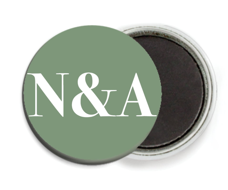 custom button magnets - sage - picture perfect (set of 6)