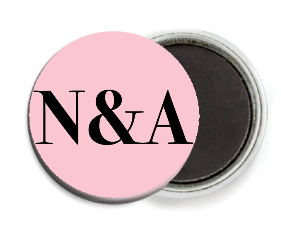 custom button magnets - pale pink - picture perfect (set of 6)