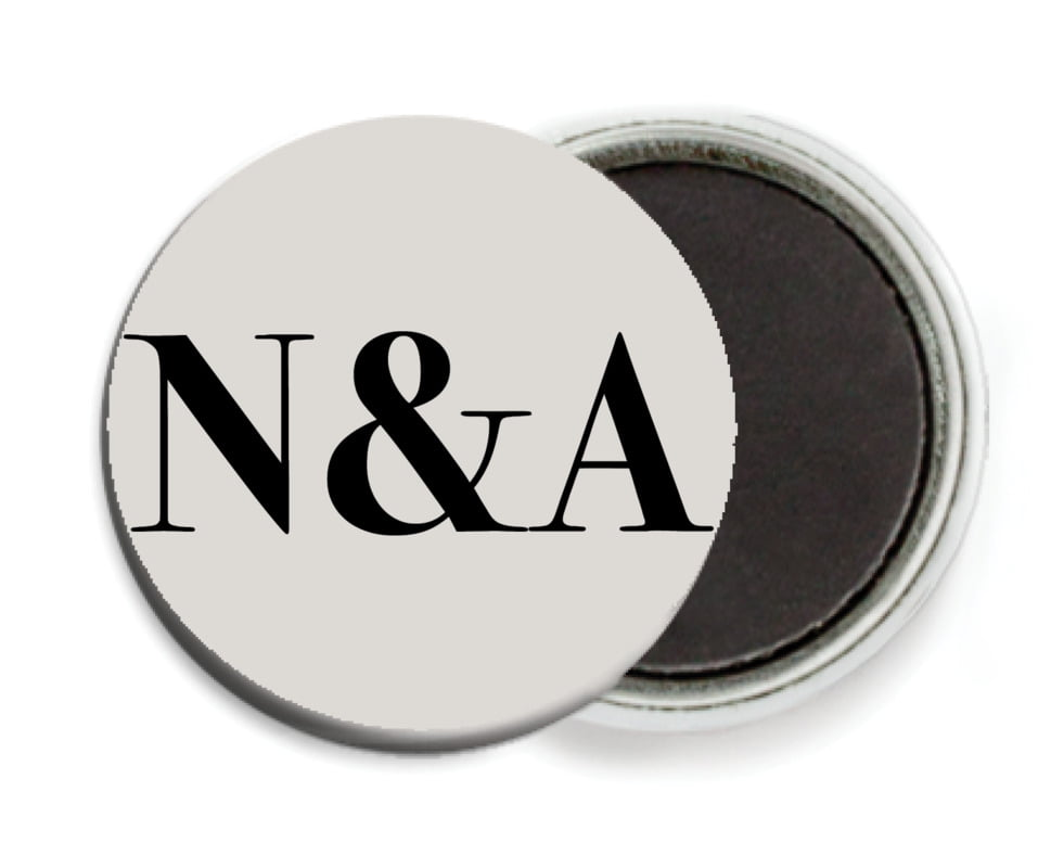 custom button magnets - stone - picture perfect (set of 6)