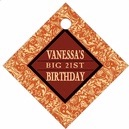 Provencale milestone birthday tags