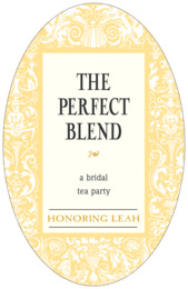 Provencale tall oval labels