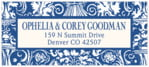 Provencale hanukkah address labels
