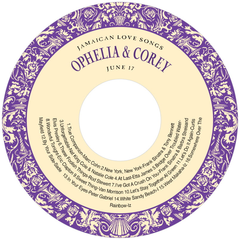 baby cd/dvd labels - purple - provencale (set of 12)