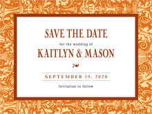 custom save-the-date cards - saddle & spice - provencale (set of 10)