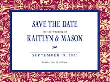 custom save-the-date cards - wine & indigo - provencale (set of 10)