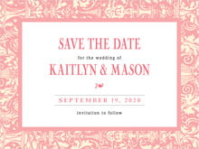 custom save-the-date cards - grapefruit - provencale (set of 10)