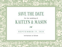 custom save-the-date cards - sage - provencale (set of 10)
