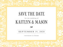 custom save-the-date cards - sunburst - provencale (set of 10)