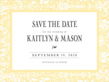 custom save-the-date cards - sunflower - provencale (set of 10)