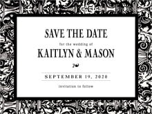 custom save-the-date cards - tuxedo - provencale (set of 10)