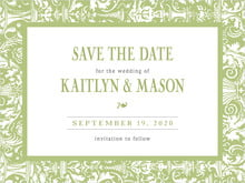 custom save-the-date cards - green tea - provencale (set of 10)