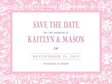 custom save-the-date cards - pale pink - provencale (set of 10)