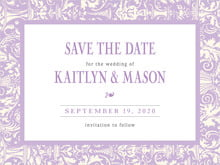 custom save-the-date cards - lilac - provencale (set of 10)