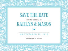 custom save-the-date cards - bahama blue - provencale (set of 10)