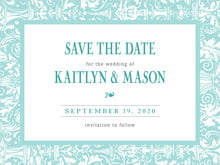 custom save-the-date cards - aruba - provencale (set of 10)
