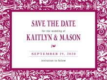 custom save-the-date cards - burgundy - provencale (set of 10)