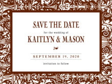 custom save-the-date cards - chocolate - provencale (set of 10)