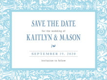 custom save-the-date cards - sky - provencale (set of 10)