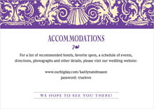 custom enclosure cards - purple - provencale (set of 10)