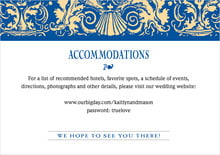 custom enclosure cards - blue & gold - provencale (set of 10)