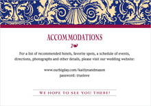 custom enclosure cards - indigo & wine - provencale (set of 10)