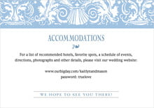 custom enclosure cards - blue - provencale (set of 10)