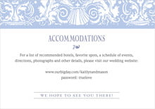 custom enclosure cards - periwinkle - provencale (set of 10)