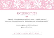 custom enclosure cards - pale pink - provencale (set of 10)