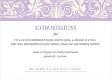 custom enclosure cards - lilac - provencale (set of 10)