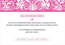 custom enclosure cards - bright pink - provencale (set of 10)