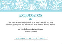 custom enclosure cards - bahama blue - provencale (set of 10)