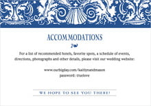 custom enclosure cards - deep blue - provencale (set of 10)