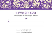 custom response cards - purple - provencale (set of 10)