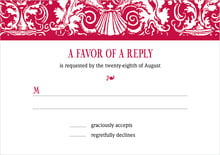 custom response cards - deep red - provencale (set of 10)