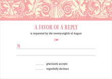 custom response cards - grapefruit - provencale (set of 10)