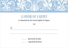 custom response cards - blue - provencale (set of 10)