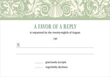 custom response cards - sage - provencale (set of 10)