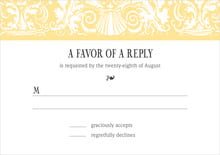 custom response cards - sunburst - provencale (set of 10)