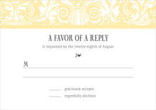 custom response cards - sunflower - provencale (set of 10)