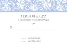 custom response cards - periwinkle - provencale (set of 10)